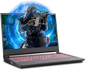 Sager NP6858EQ 15.6-Inch Thin Bezel FHD 144Hz Gaming Laptop, Intel i7-10750H, GTX 1650Ti 4GB, 16GB RAM, 1TB NVMe SSD, Windows 10