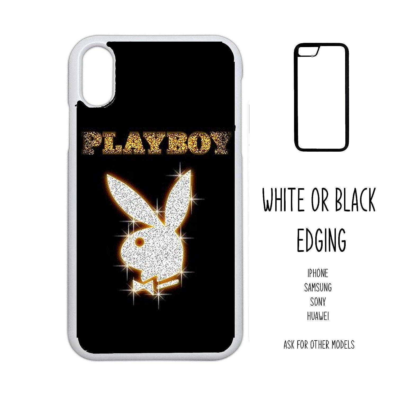 Plus 7 7 S9 8 8 Case Playboy play boy black gold bling text rabbit logo head Novelty Gift Harajuku KPOP aesthetic grunge iPhone 4 5 5C SE 6 6 X XR XS 11 PRO Max Samsung Galaxy Edge S8 S9 S8