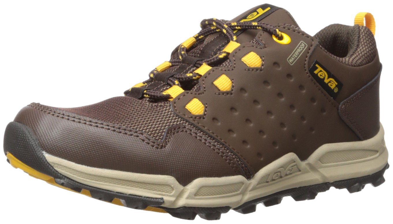 Teva Boys' Wit Choclea/Mesh-K Shoe, Chocolate/Yellow, 7 M US Big Kid