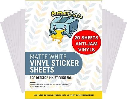 Amazon.com: Vinilo imprimible para impresora de inyección de ...