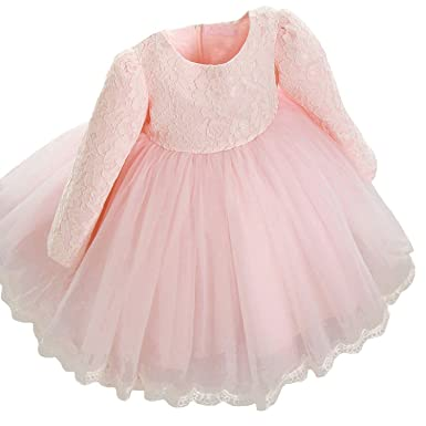 6ed97f25f32 Elegant Dress Girl Baby Birthday Dress Wedding Party Girls Autumn Dresses 2- 3Years Pink