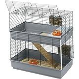 Ferplast - Cage Rabbit 100 double / 57046817 - Complètement équipée - 99 x 51,5 x 92 cm