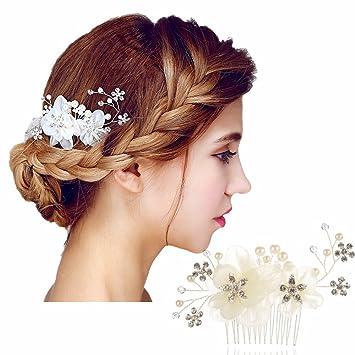 Hair Clip Headpiece Wedding Accessories Wedding IvoryWhite Flower Hair Accessory
