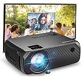 Proyector WiFi, BOMAKER Proyectores Exterior Portátil 6000 Brillo Resolución Nativa 720P, Inalámbrico Mini Cine en Casa…