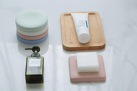 Diatomite agua absorbente rápido platos de jabón y posavasos | Juego de 2 Diatomeas white| antideslizante anti bacterial| reutilizable deshumidificador ...