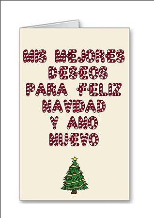 Meine besten Wünsche für frohe Weihnachten und neues Jahr Karte ...