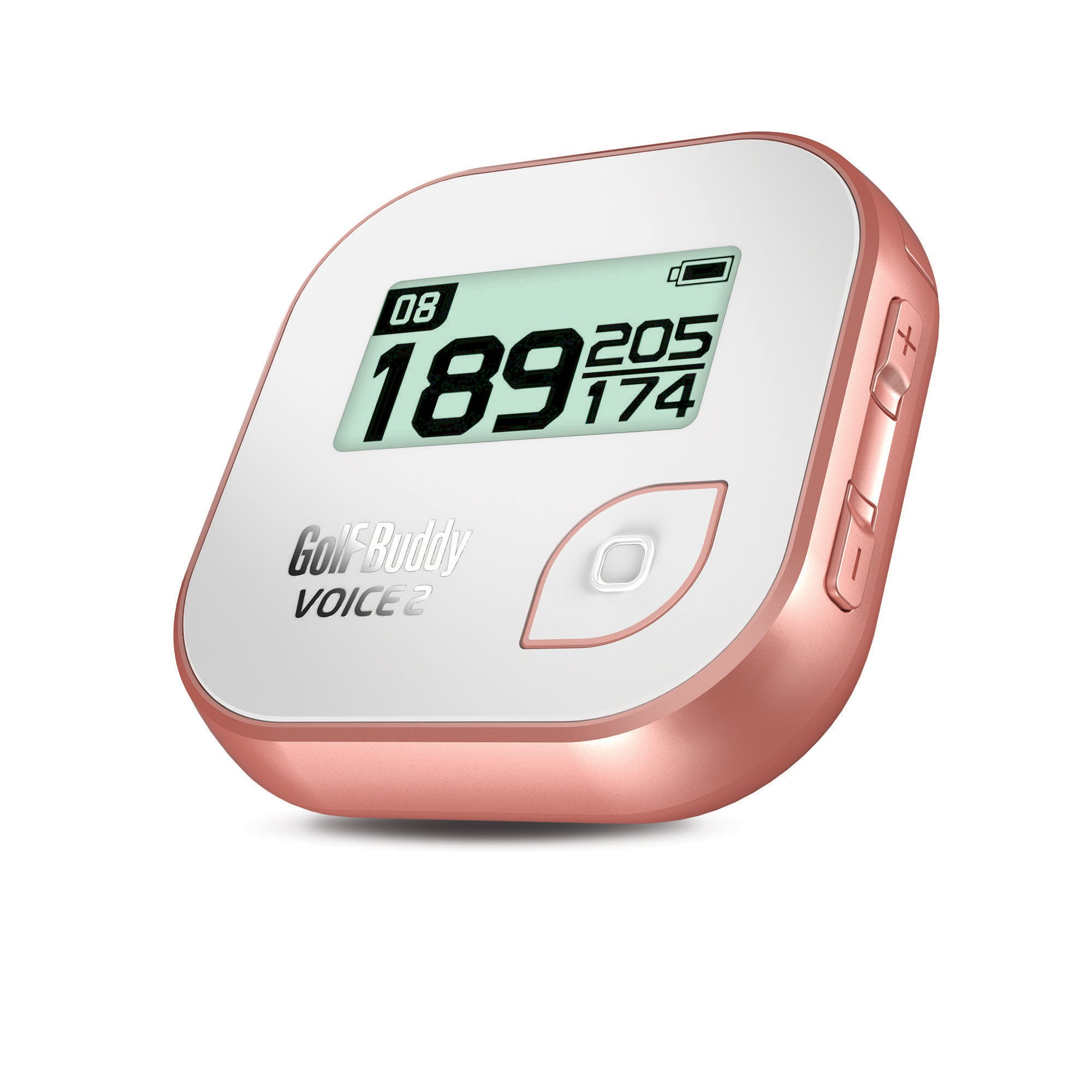GolfBuddy Voice 2 Golf GPS/Rangefinder, White/Rose Gold