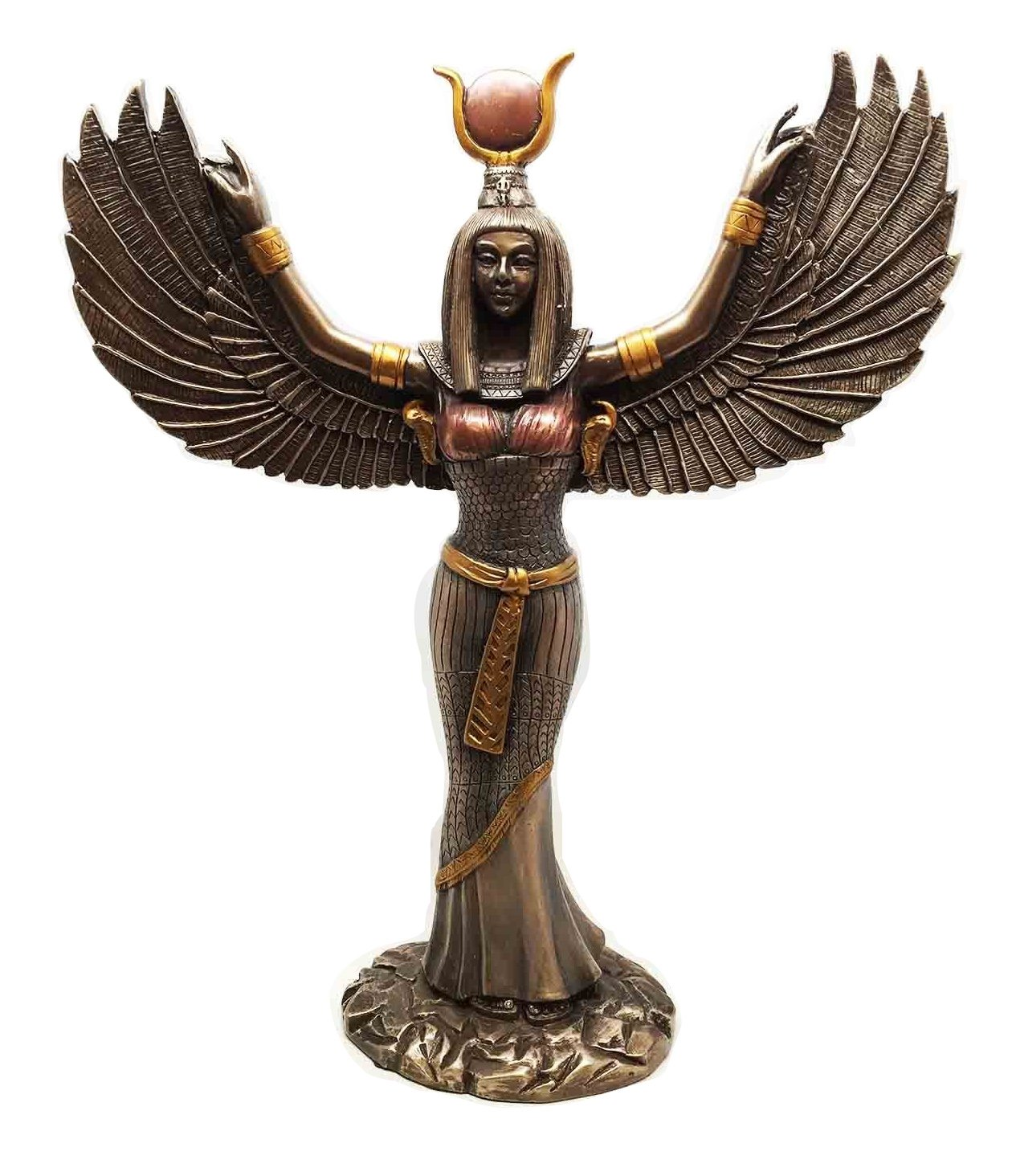 Amazon.com: Ebros Egyptian Theme Isis With Open Wings Goddess of ...