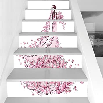 Amazon Com Stair Stickers Wall Stickers 6 Pcs Self Adhesive Wedding