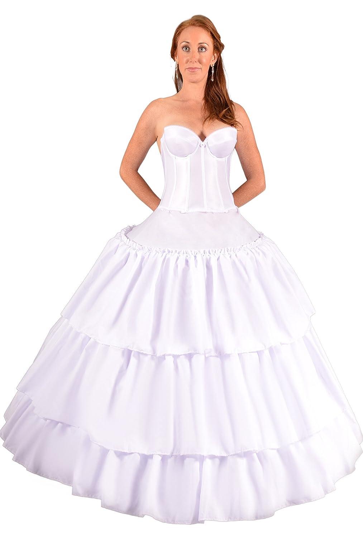 Amazon.com: Petticoat Hoop Skirt for Girls Cinderella Dress Disney ...
