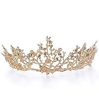 Czemo Tiara de Novia para Mujer Corona Cabello Joyería Rhinestone Diadema para Boda Pageant