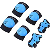 BOSONER Kids/Youth Knee Pad Elbow Pads for Roller Skates Cycling BMX Bike Skateboard Inline Rollerblading, Skating Skatings Scooter Riding Sports