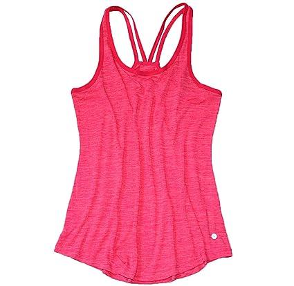 DANILE El Código Femenino Flojo Gimnasio Chaleco Camisa Transpirable Ropa Interior Deportiva,Red-M