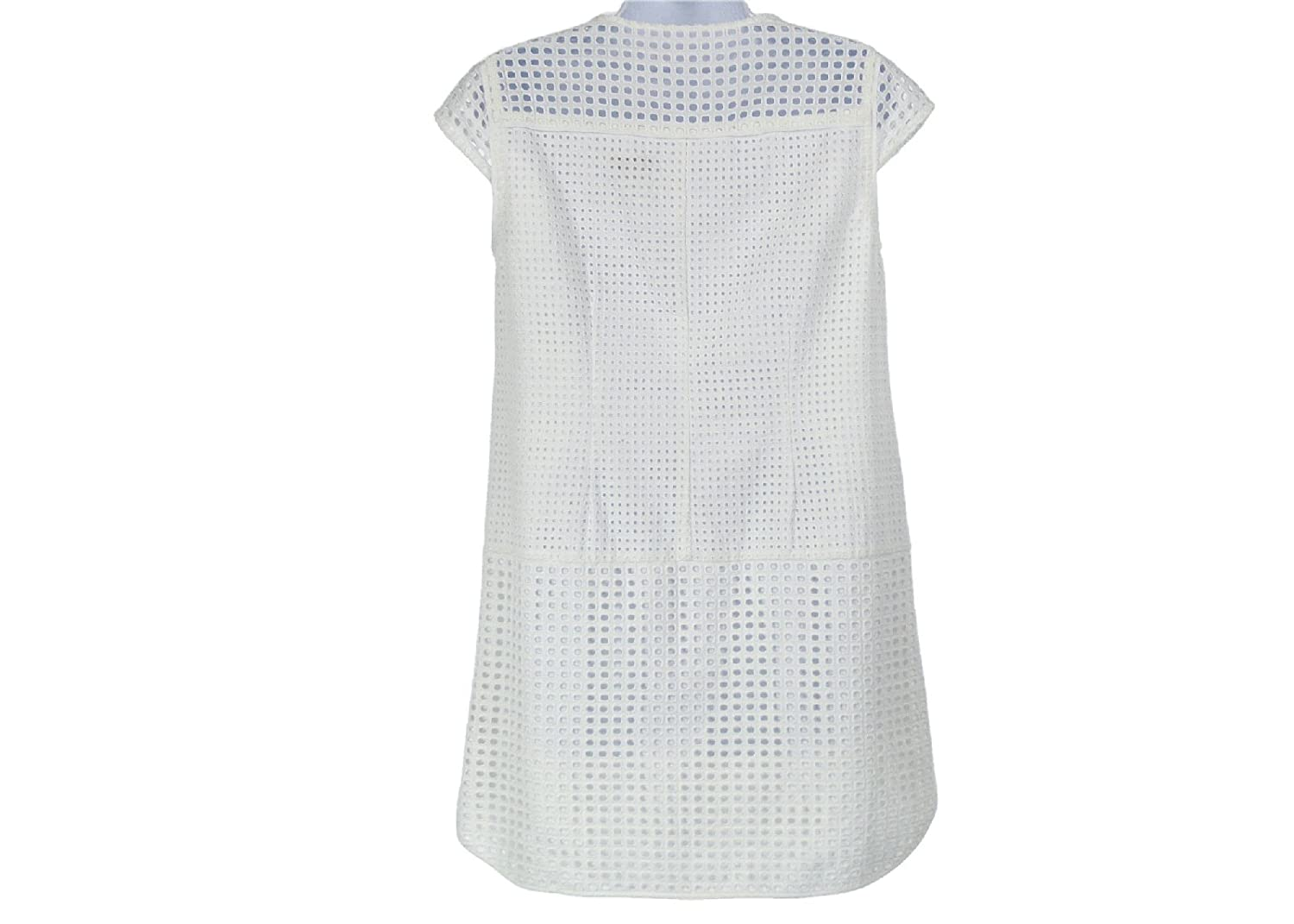 1ab120b0d50 J Crew Petite Triple Eyelet Shift Dress Size Petite M Style C5496 White New  at Amazon Women s Clothing store