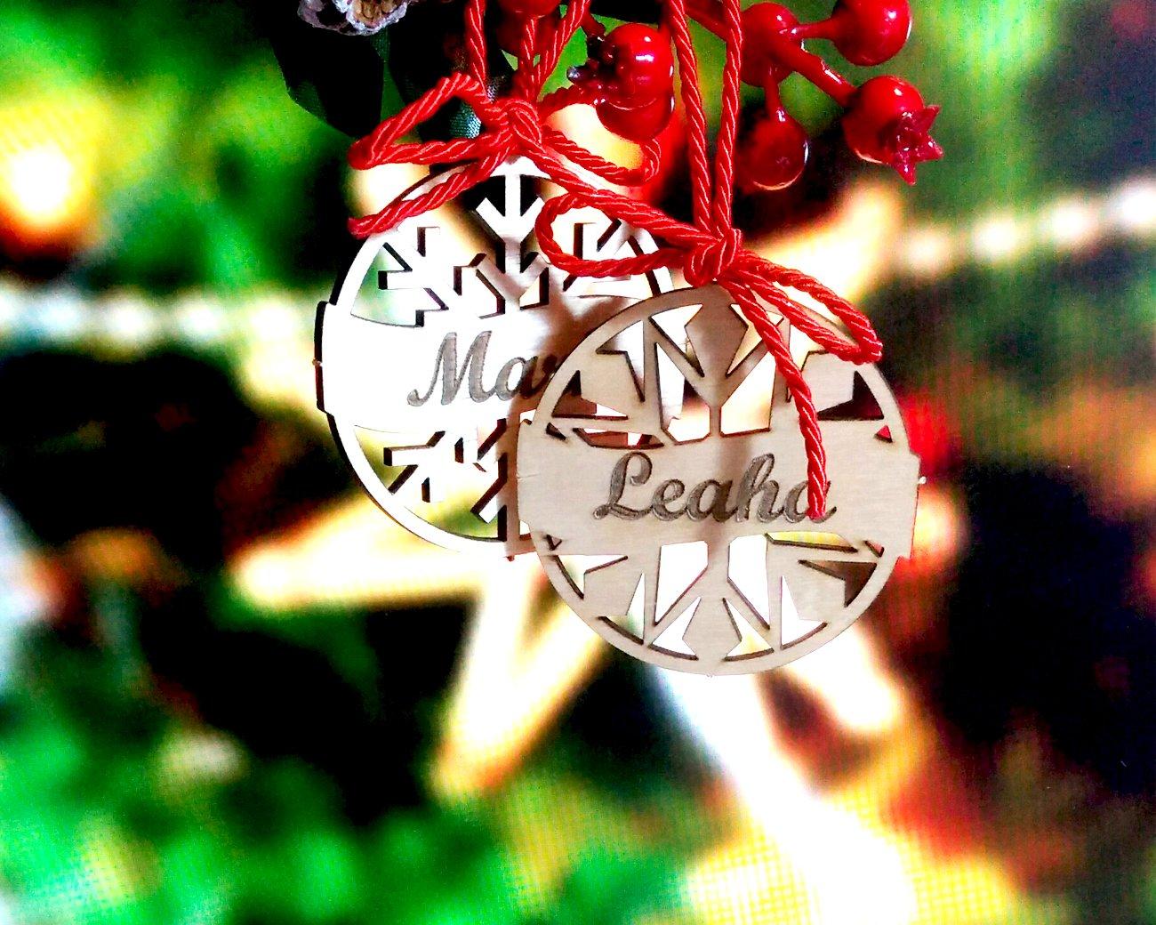 Personalized Christmas Decor.Christmas Together Wood Christmas Balls Ornament