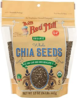 product image for Bob's Red Mill Resealable Organic Chia Seeds 12 Ounce (Pack of 2)