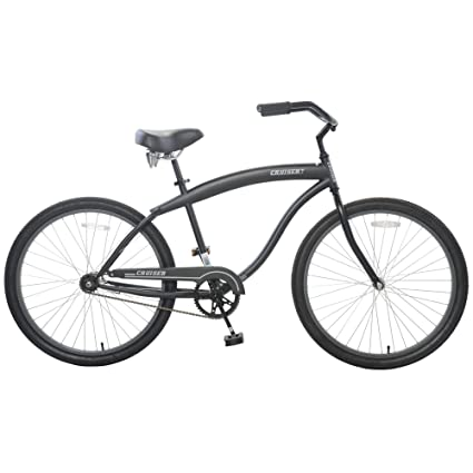 f5d7360307a Amazon.com: Cycle Force Limited Edition 26 Men's Cruiser in, Black ...