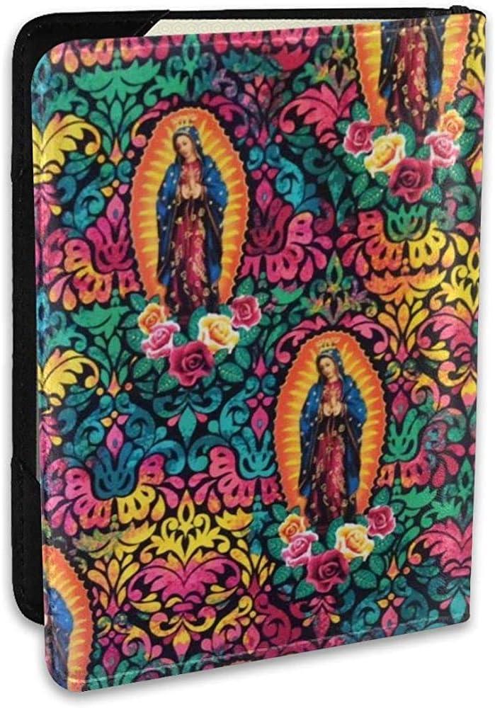 Funda para Pasaporte de Cuero religioso de la Virgen María - Regalos de Viaje