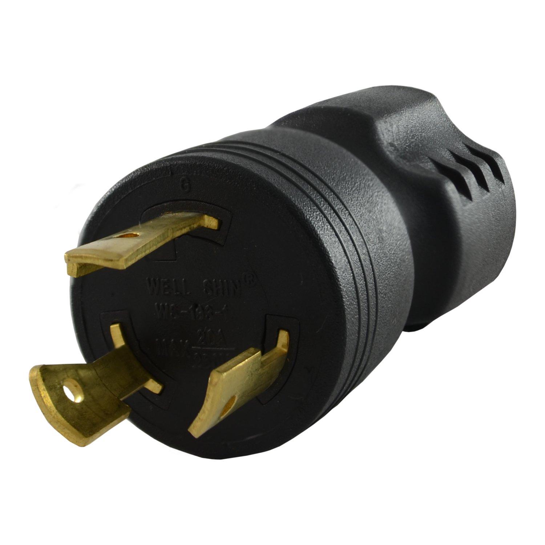 Conntek 30125 L6-20P to 6-15/20R Plug Adapter, 20 Amps 250 Volt