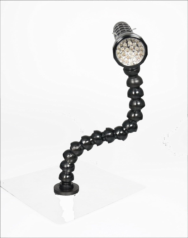 LED Arbeitsleuchte mit Schwanenhals und gummiertem Magnetfuß , Leuchte schwarz oder silber (Farbe nicht frei wä hlbar) die magnetprofis GmbH & Co.KG