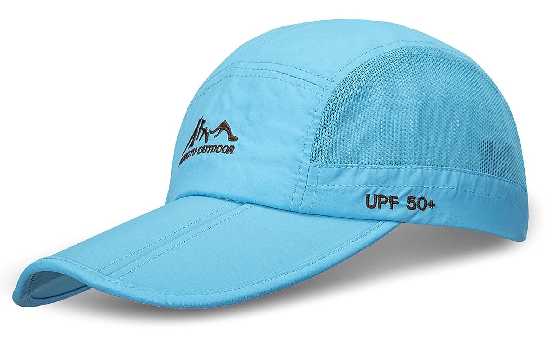 JOSENI Outdoor Quick Dry Sun Hat Folding Portable Unisex UV SPF 50+ Baseball Cap