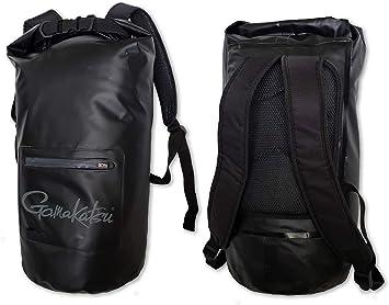 One Size Gamakatsu BAG001 Waterproof Dry Bag Zblack with Red Strips