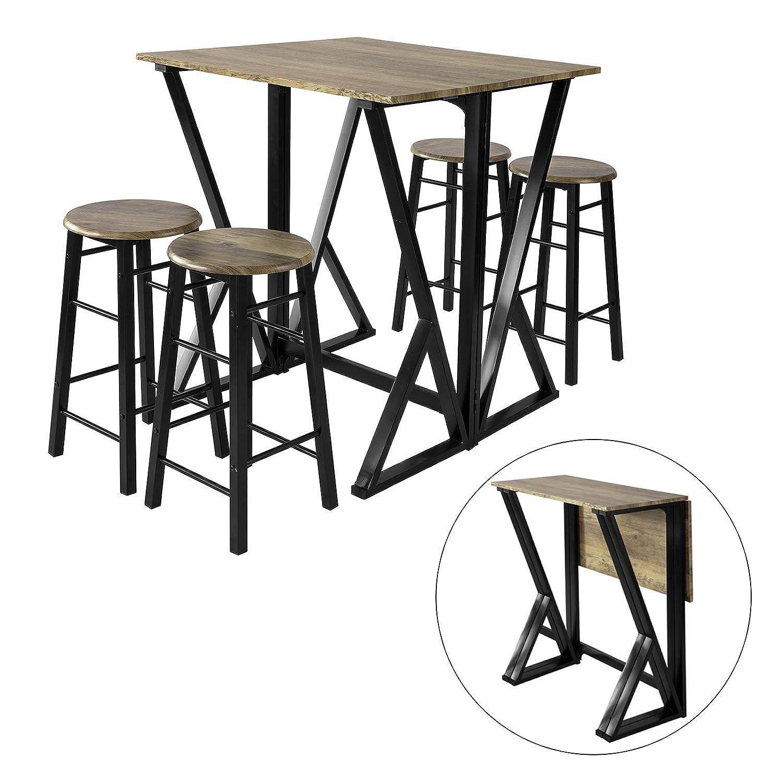 SoBuy OGT16-N 16-teilige Essgruppe Esstisch mit 16 Stühlen Klapptisch  Esszimmer Sitzgruppe Küchentisch