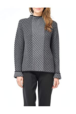 Habitat Clothes Lattice Stitch Mixed Funnel Neck Sweater At Amazon