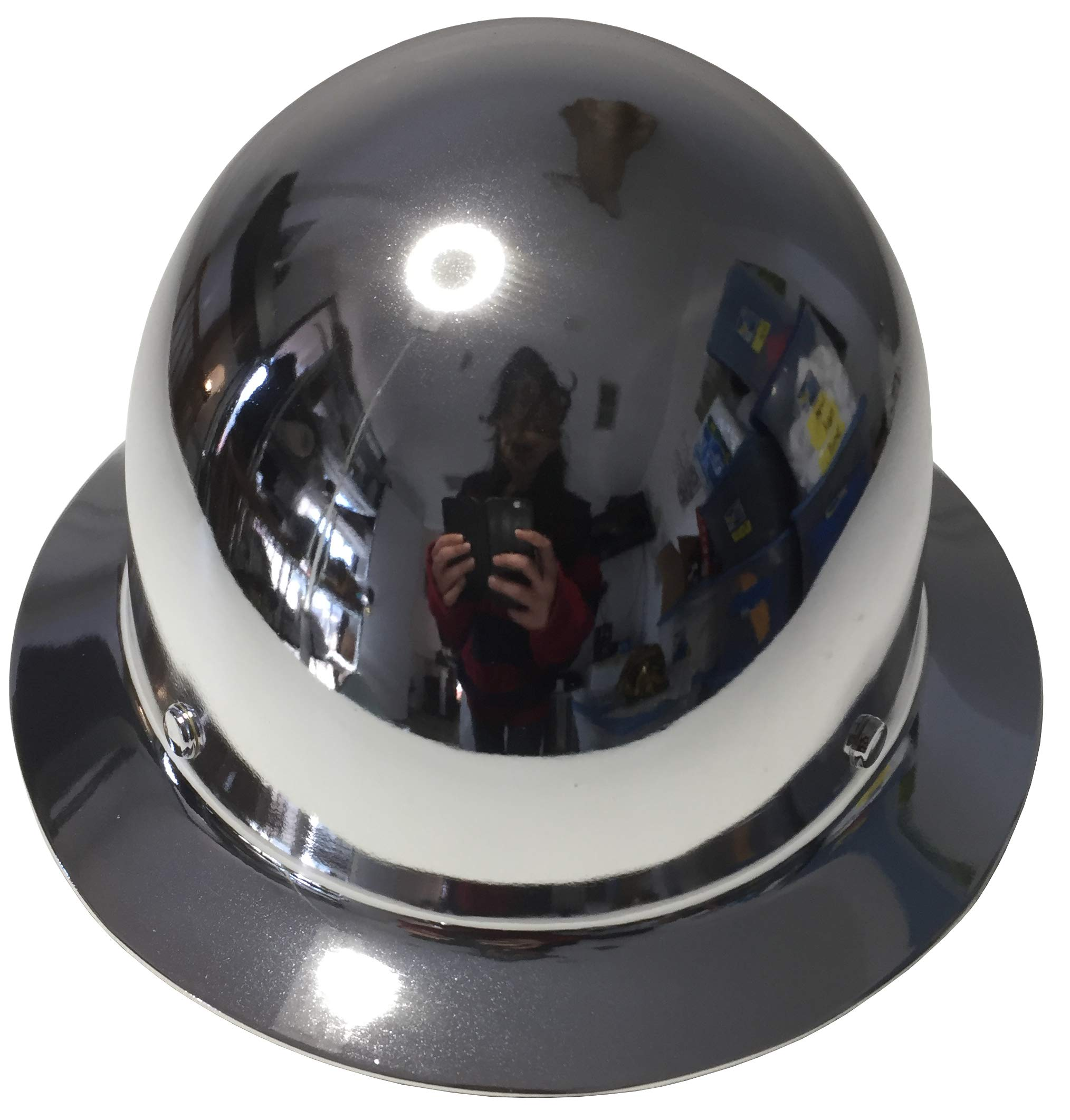 Hard Hat MSA Skullgard Full Brim Custom Chrome by Bag R Buck (Image #3)