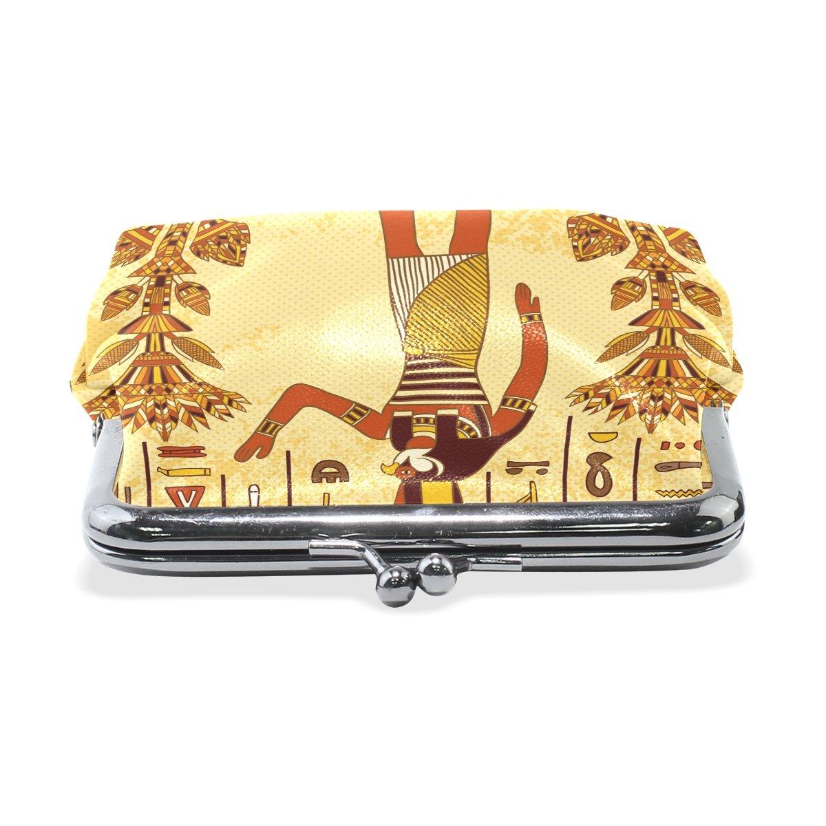 Coin Purse Egyptian Character Wallet Buckle Clutch Handbag For Women Girls Gift