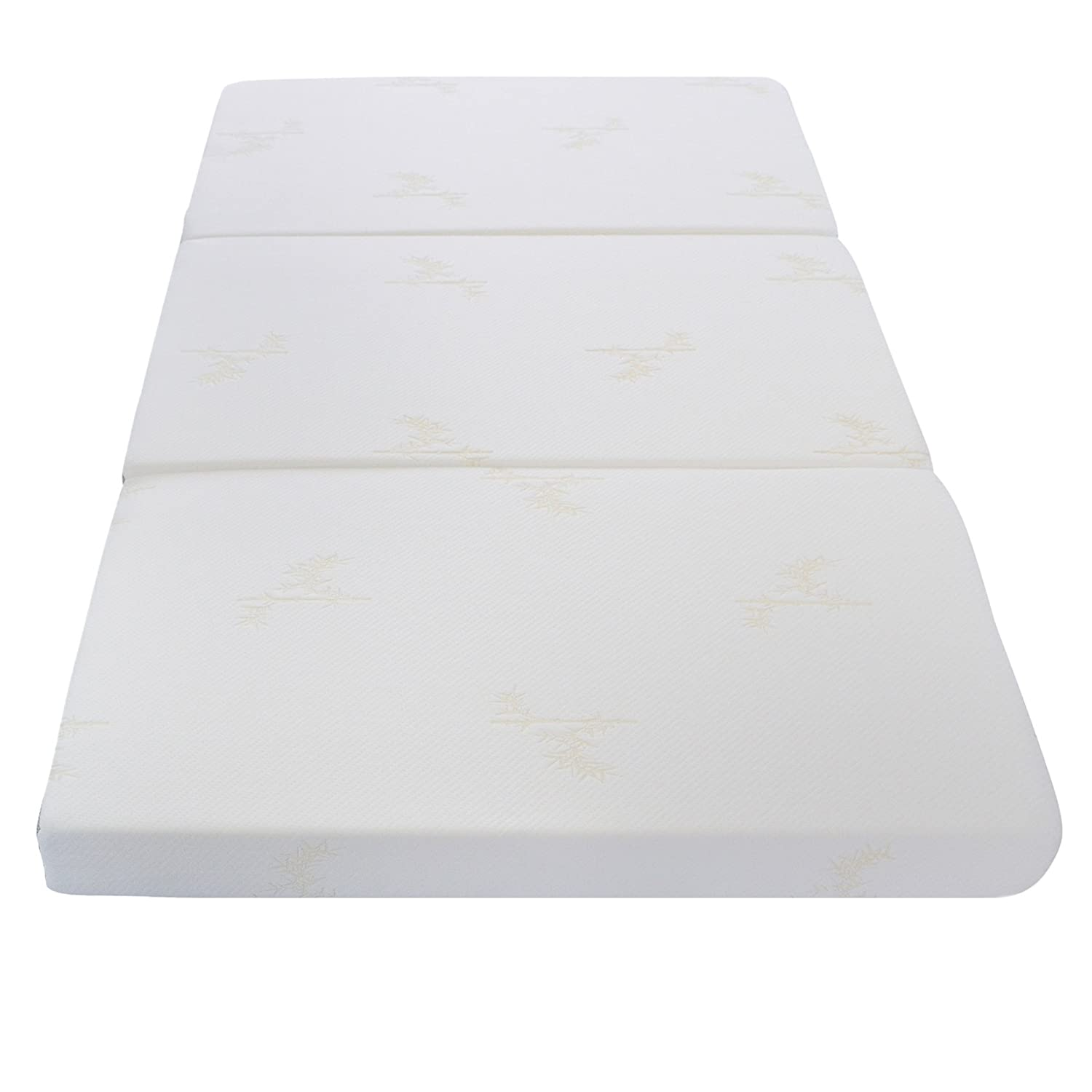 Milliard Tri Folding Mattress Full, with Ultra Soft Removable Cover and  Non-Slip Bottom