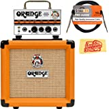 "Orange PPC108 1x8"" Closed-Back Speaker Cabinet Bundle with Orange MT20 Micro Terror Amp Head, Instrument Cable, and Austin Bazaar Polishing Cloth"