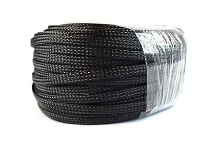 amazon com braided expandable loom 1 4 100ft black wire harness braided expandable loom 1 4 quot 100ft black wire harness cover sheathing sleeving