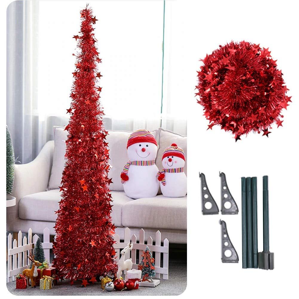 Artificial Christmas Tree Sizes.Amazon Com Artificial Tinsel Pop Up Christmas Tree With