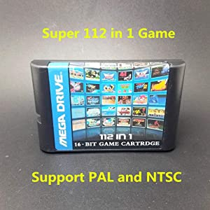 Top 112 in 1 For Sega Megadrive Genesis Game Cartridge with Contra Gunstar Heroes Alien Soldier Streets of Rage Sonic Golden Axe