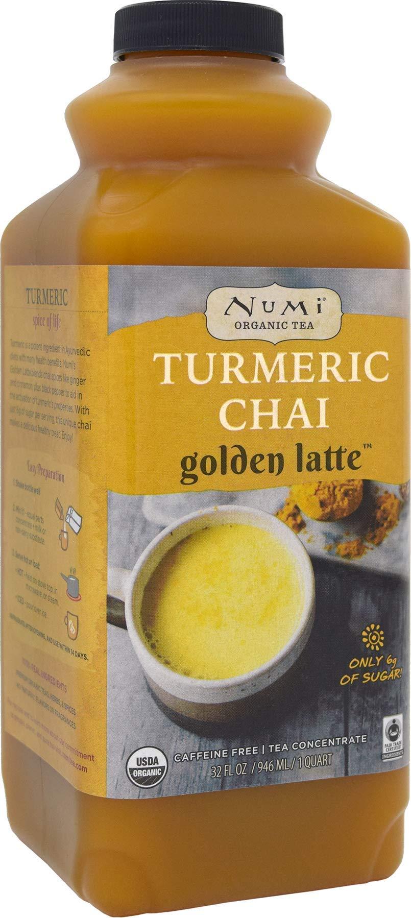 Numi Organic Tea Turmeric Chai Golden Latte Concentrate, 32 Ounces (Pack of 2)