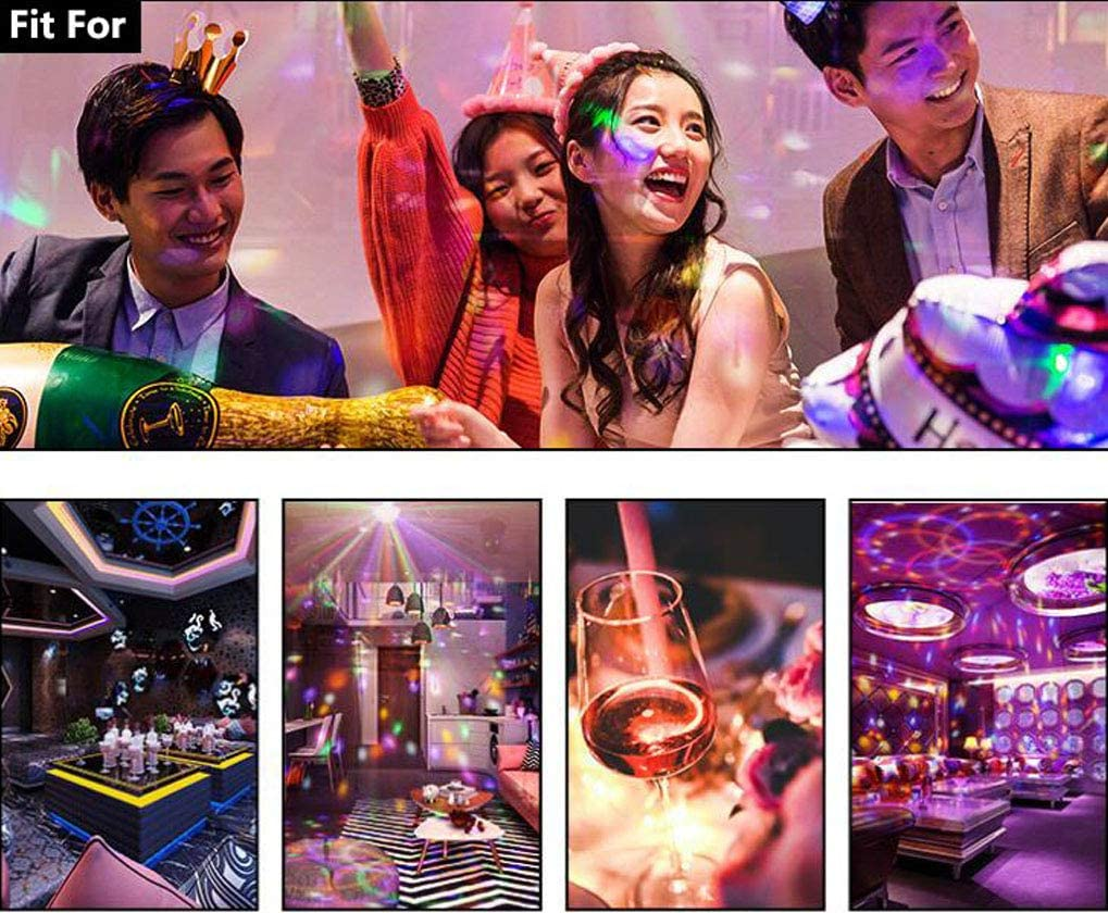Ledble Disco Ball Light Bluetooth Mobile App Control Sound Activated Usb Disco Light With Remote Control Led Disco Lights For Parties Room Car Kids Dance Karaoke Dj Show Club Bar Pub