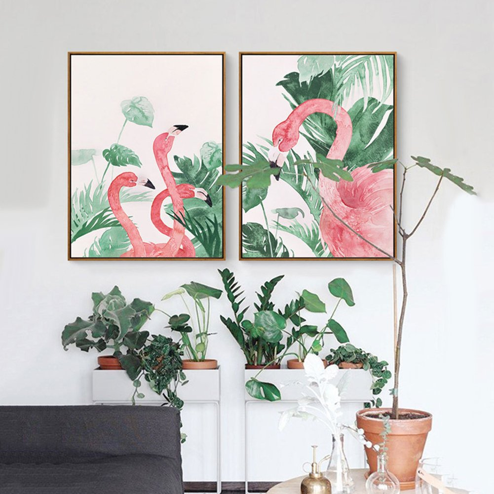 30cm osmanthusFrag Flamingo Print Wall Art Painting Poster Hanging Picture Canvas Ornament Bedroom Home Decor 1# 21