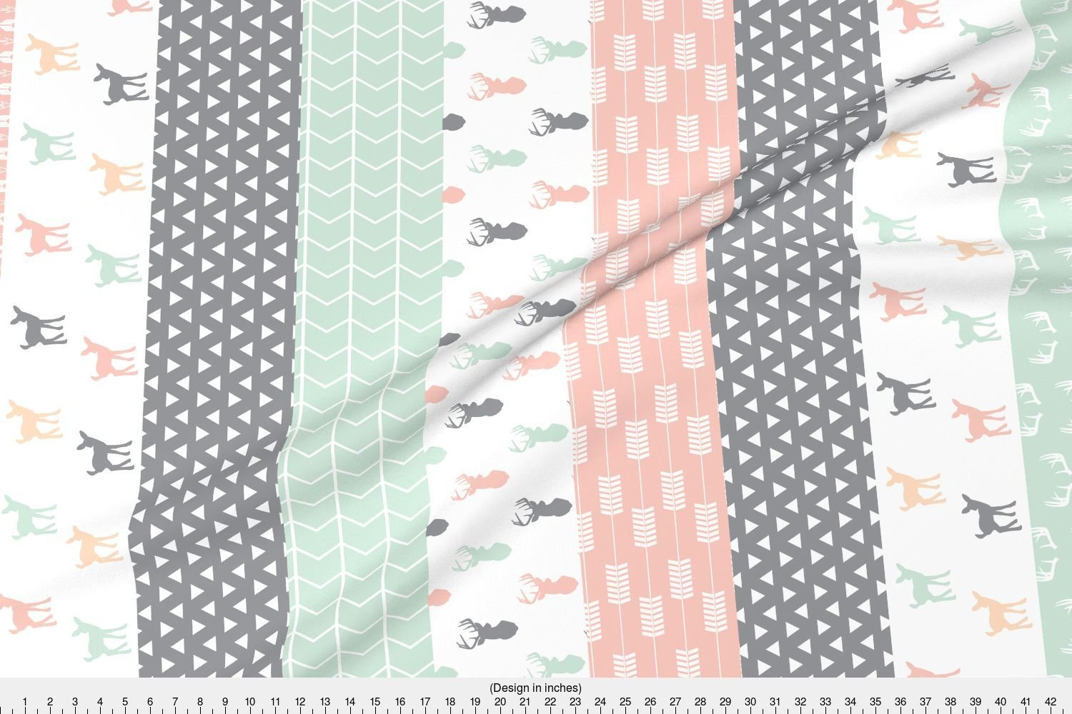 22b9dc50c98 Spoonflower Woodland Fabric - Girl Woodland Cheater Quilt Fabric by  littlearrowdesign - Woodland Fabric Printed on Basic Cotton Ultra Fabric by  The Yard