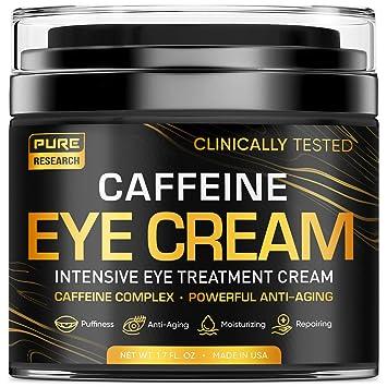 Caffeine Eye Cream For Anti Aging, Dark Circles, Bags, Puffiness. Great Under Eye Skin + Face Tightening, Eye Lift Treatment For Men & Women 1.7oz