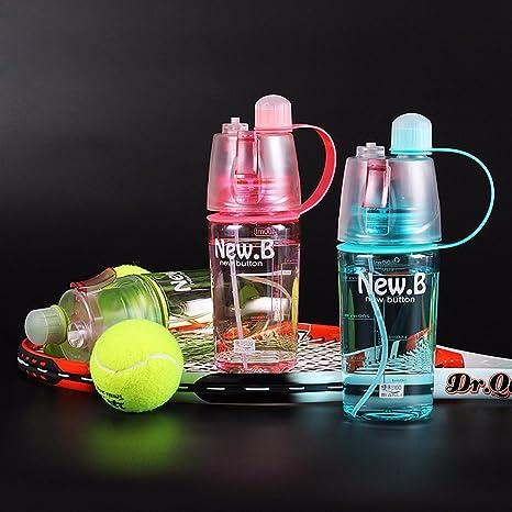 Nice Cook - Botella de agua deporte, Fitness - Botella para senderismo, Voyager, Yoga, Gym, bidon bicicleta, montaña con pulverizador, spray, ...
