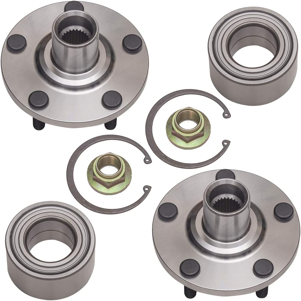 Front Wheel Bearing and Hub Assembly Compatible With 1992-2003 Toyota Camry Solara 5 Stud Hub Repair Kit 1999-2003 Lexus RX300 Pair TUCAREST 518508 x2 AWD Only 2.2L and 2.4L Engine