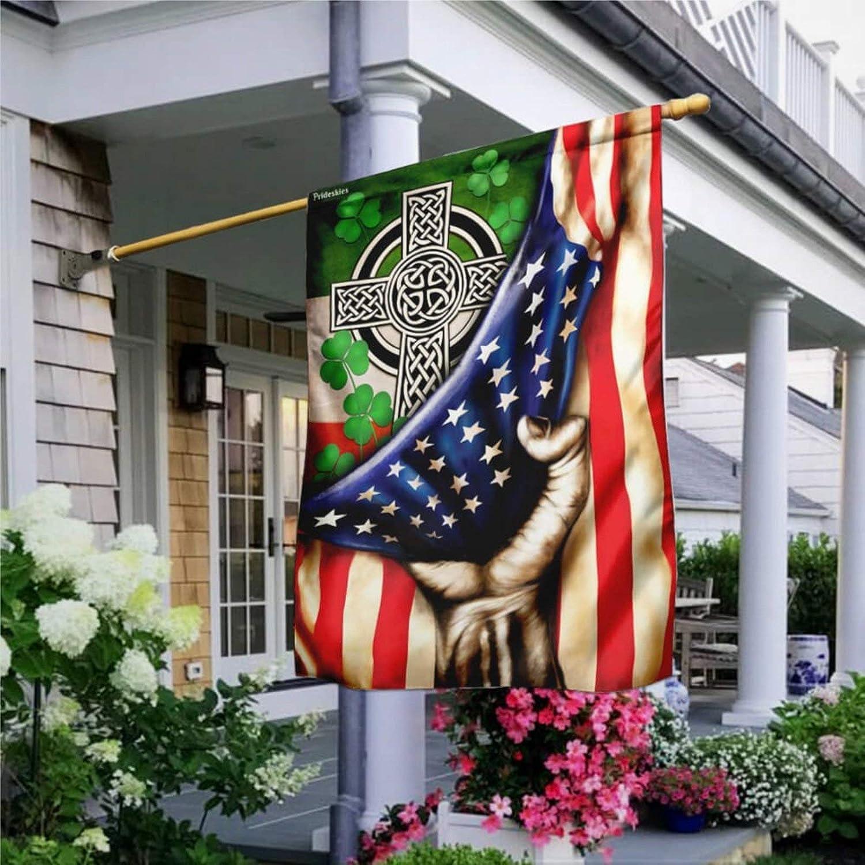 """Garden Flag Irish Celtic Cross Flag, Rustic House Peace Flag Yard Decor House Decor Flag Seasonal Banners for Patio Lawn Outdoor 28x40"""""""