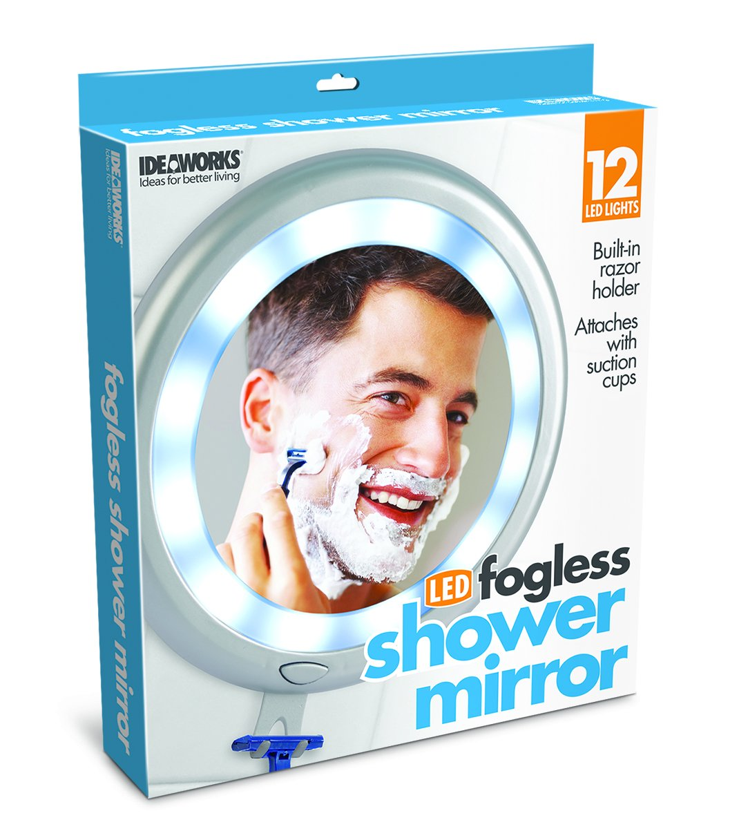 Ideaworks Fogless Shower Mirror, for Easy Shaving Mirrors Viewing No Fog Ever