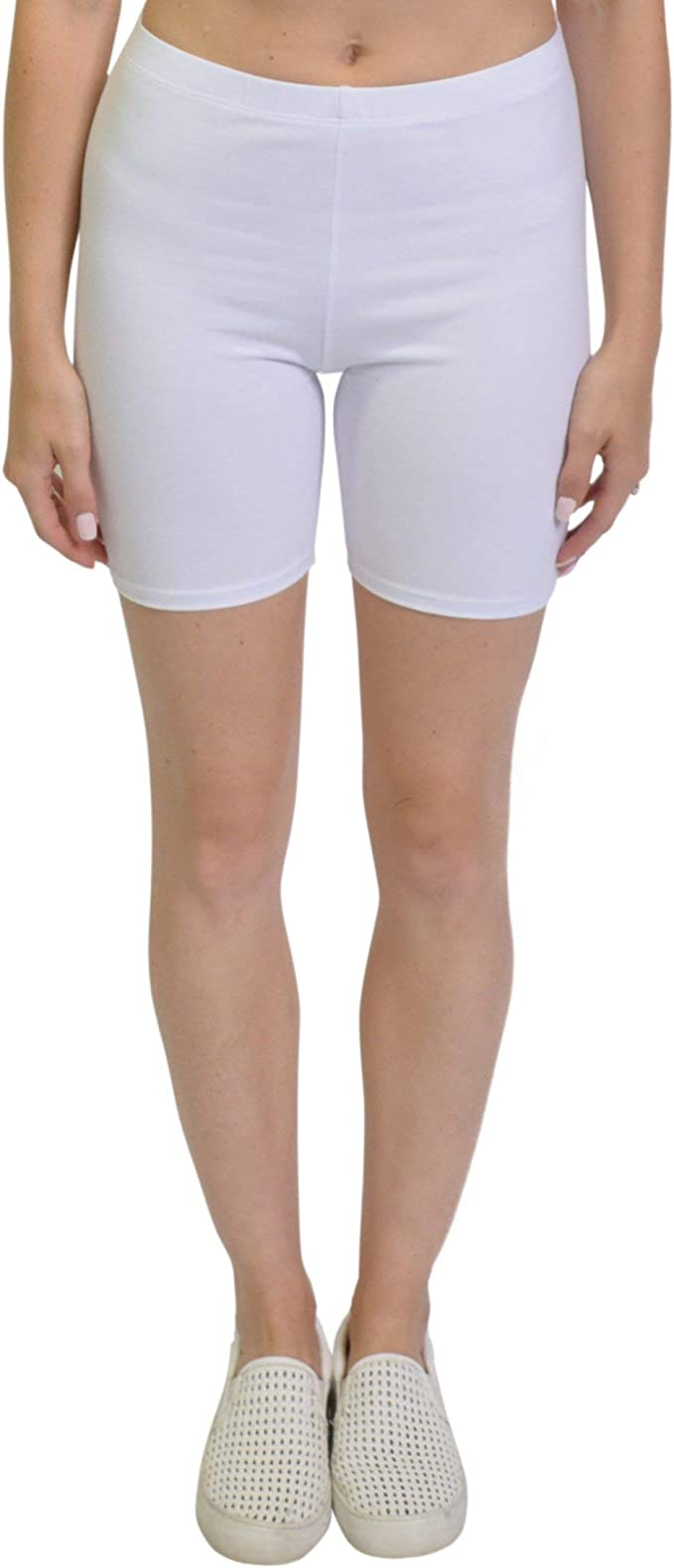 Stretch is Comfort Infant Cotton Biker Shorts Pack of 2 Black and White Medium 9M