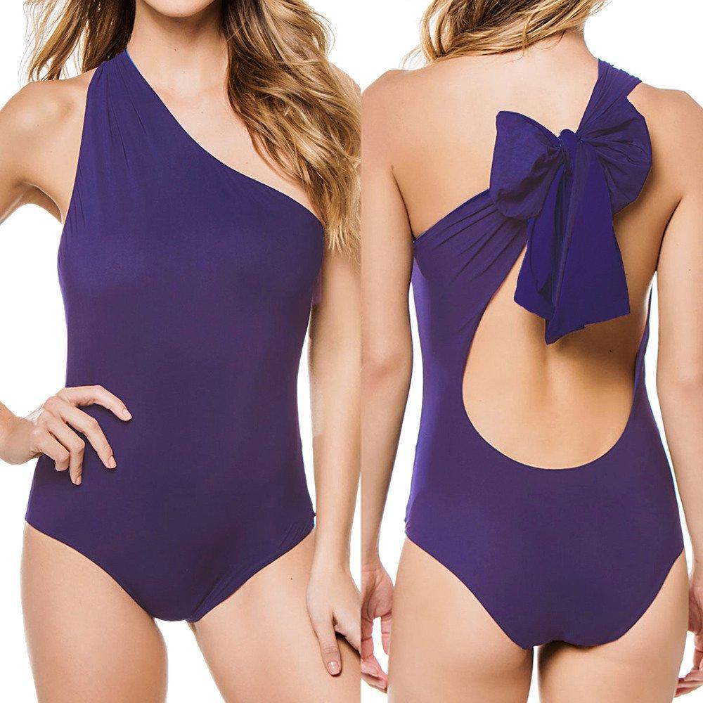 Women Off The Shoulder Swimwear One Pieces Summer Bathing Suit Beachwear S-XL