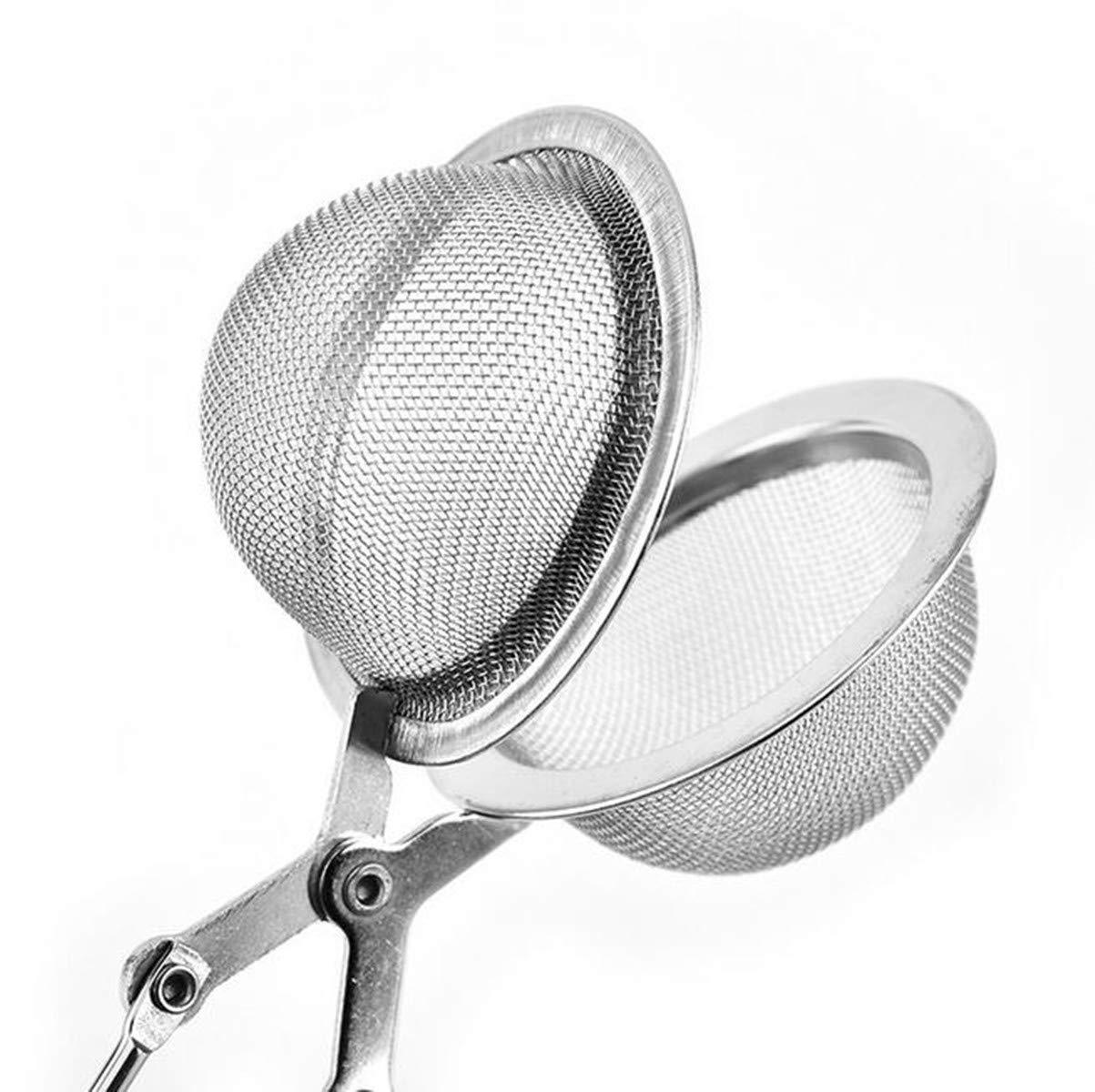 Rocita 2pcs infuseur /à th/é en Acier Inoxydable de premi/ère qualit/é avec Filtre /à th/é avec cha/îne pour Les Tasses et Les Pots /à th/é en Vrac Format Boule
