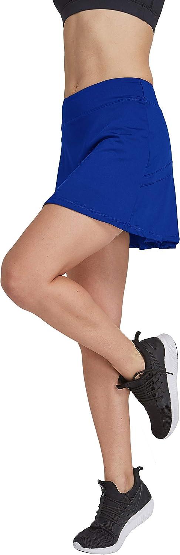 HonourSport - Falda de tenis para mujer con mallas deportivas, tallas XS - XXL Azul 1 XL