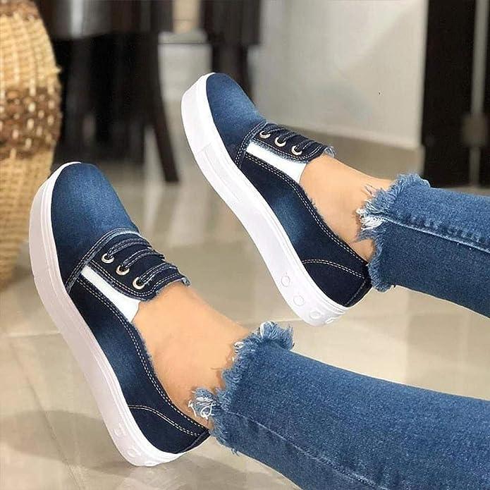 d7c4ea4dde85b FIRENGOLI Women's Casual Sneakers Slip On Canvas Loafer Fashion Lazy Flat  Shoes