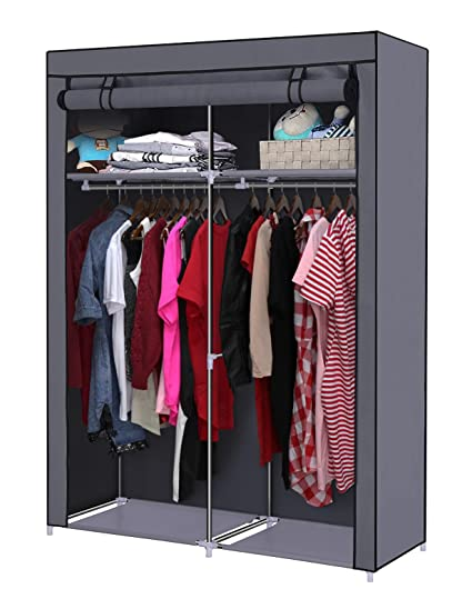YOUUD Closet Organizer Wardrobe Portable Wardrobe Storage Clothes Closet  Portable Closet Rod Storage Closet Standing Closet